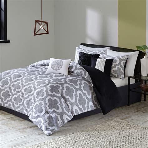 Beautiful White Comforter Sets by Beautiful Modern Chic White Black Grey Soft