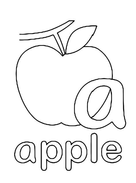 A In Lettere E Numeri Lettera A In Stato Minuscolo Di Apple Mela In Inglese