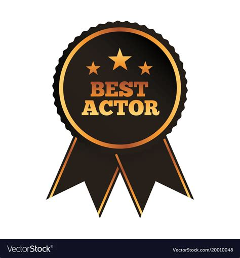 best free vector best actor award rosette ribbon image royalty free vector