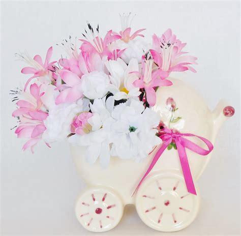 New Baby Flowers by New Baby Silk Floral Arrangement Pink White Daisies