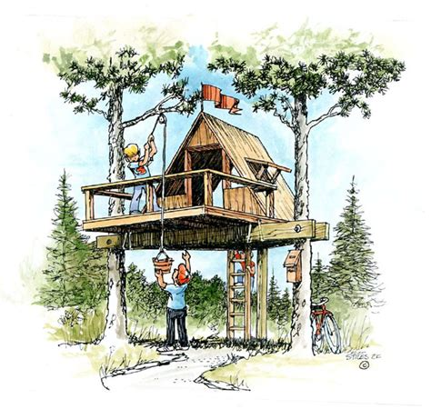 free tree house designs free treehouse plans pdf