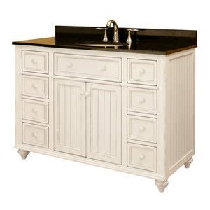 cottage style bathroom vanities cabinets sunnywood bb4821d 48 quot wood bathroom vanity cabinet from