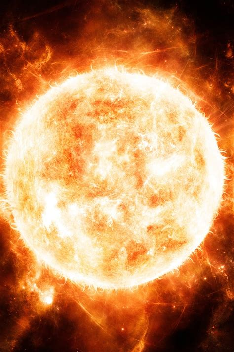 red hot sun close  iphone  gs wallpaper
