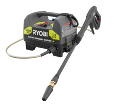 home depot ryobi electric pressure washer only 67 97