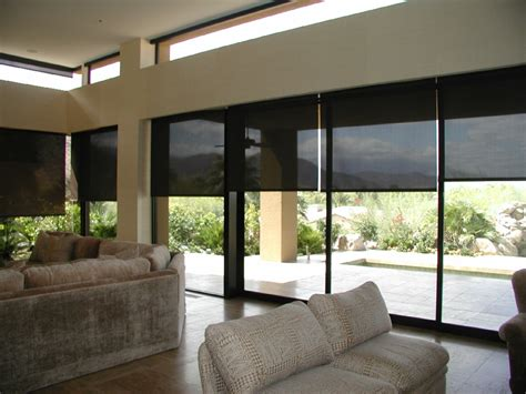 Automatic Blinds Motorized Sun Screen Roller Shades Global Home Automation