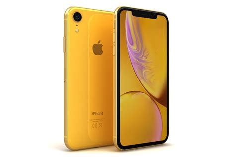 apple iphone xr yellow 3d model turbosquid 1337316