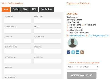 7 Ways Email Signatures Can Drive Signups Follows And Conversions Wordstream Hubspot Template Builder