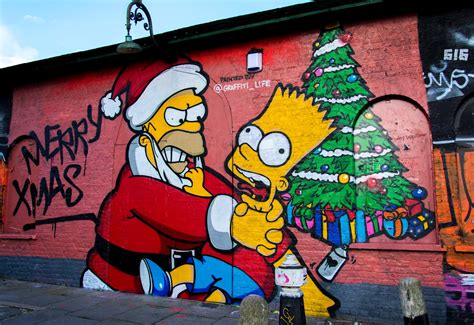 merry xmas  homer bart simpson