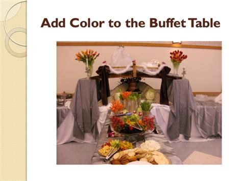 how to set up a buffet table how to set up an buffet table