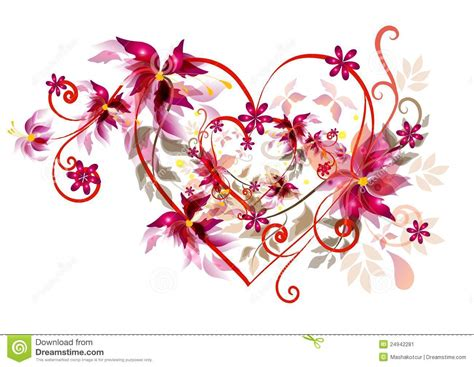 beautiful design beautiful valentines heart design stock image image 24942281