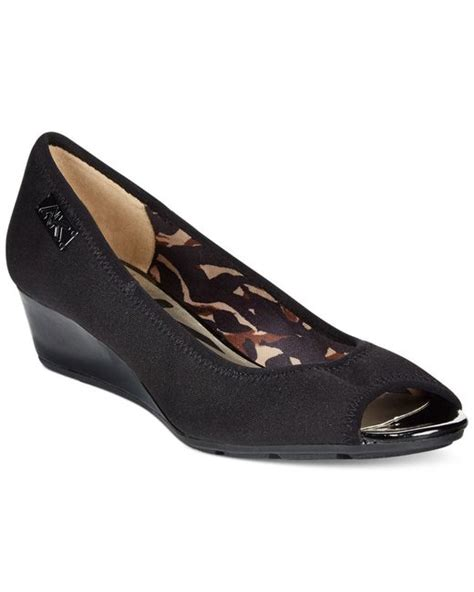 sport wedges shoes klein camrynne sport wedges in black black fabric
