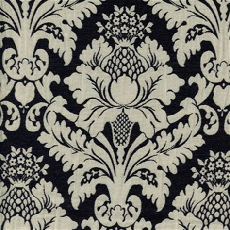black floral upholstery fabric bohemian black floral drapery fabric 29120