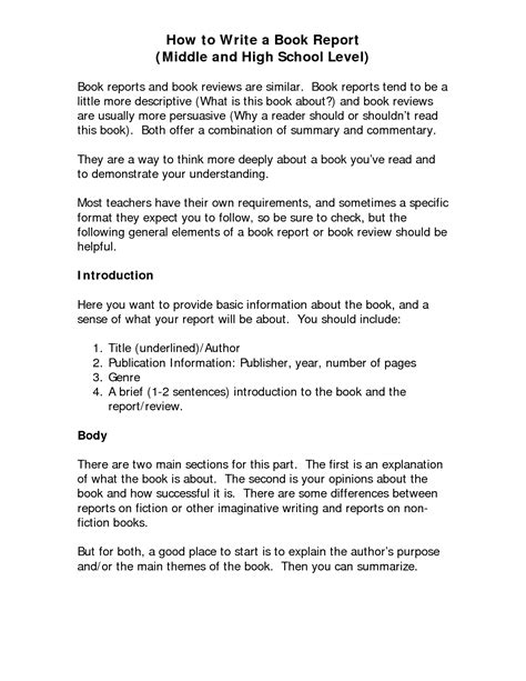 book report introduction exle how to write a book report for high school the