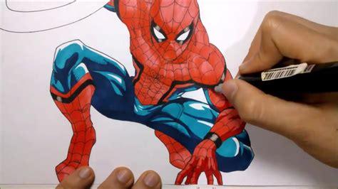 imagenes de spiderman para dibujar a lapiz como dibujar a spiderman civil war version manga how to