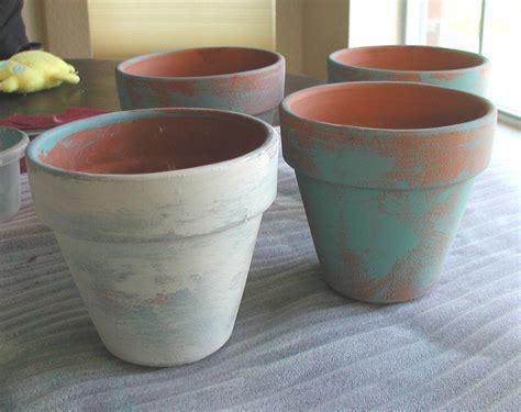 terracotta pots chalk painted plant pot craftbnb