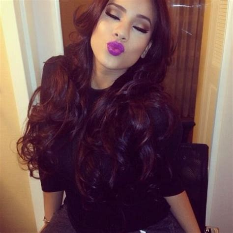 cyn santanas hair color cyn santana hair pinterest her hair purple lips and