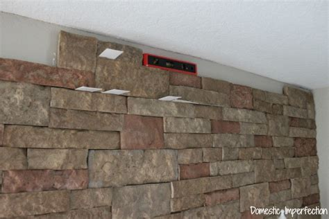 DIY Faux Stone Wall (aka the best thing ever)   Domestic