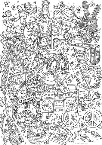70s Coloring Page by Groovy 70s Printable Coloring Pages From Favoreads