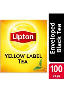 Teh Lipton Isi 100 jual lipton yellow label 100 tea bag envelope harga murah kota tangerang oleh pt jaya utama santikah