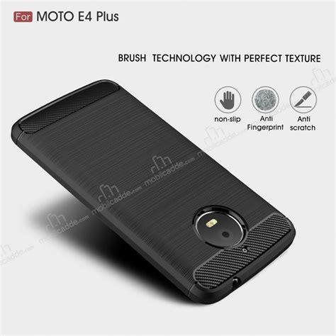 Motorola Moto E4 Plus Silikon Slim Carbon eiroo carbon shield motorola moto e4 plus ultra koruma lacivert k箟l箟f