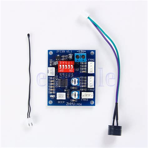 temperature controlled computer fan dc 12v pwm pc cpu fan temperature control speed controller