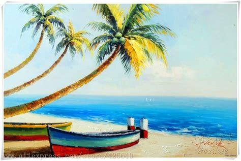 Cat Acrylic Di Gramedia tropical seascape painting