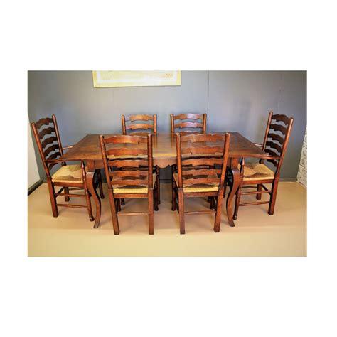 farm house table  ladder  chairs hf handmade oak