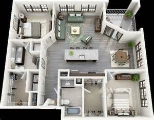 How To Design A House Interior 50 Plans 3d D Appartement Avec 2 Chambres