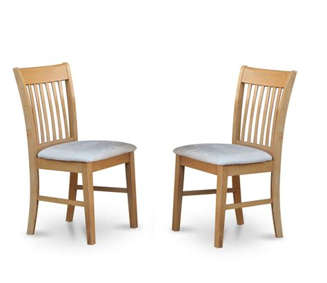 Dining Chairs Set Of 2 Set Of 2 Norfolk Dinette Kitchen Microfiber Upholstered Dining Chairs Light Oak Ebay