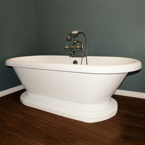 30 Inch Bathtub by Cambridge Plumbing Adep Acrylic Ended Pedestal