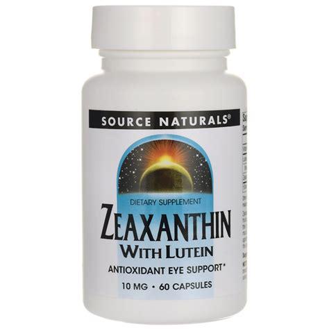 supplement lutein source naturals zeaxanthin with lutein 10 mg 60 caps