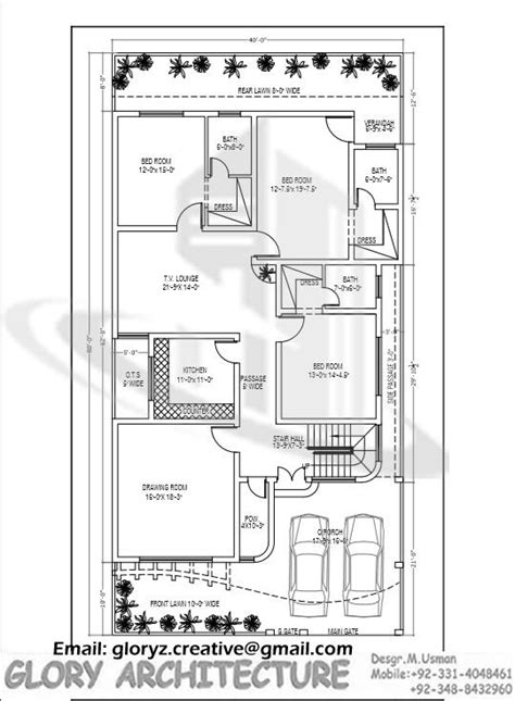 Duplex Style by House Plan Design Construction Drawing Naksha Maps G