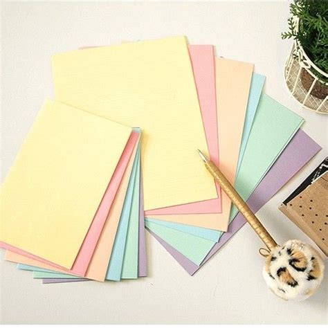 writing paper and envelope sets rainbow pastel color letter set 12sh writing stationery