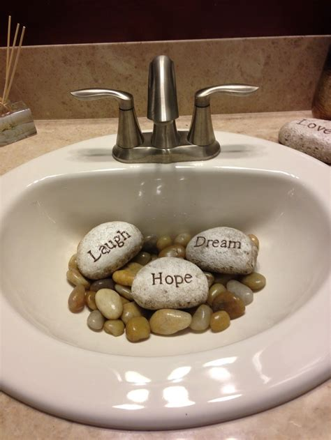 where to buy rocks for sink neat way to cover an unsightly drain fill a guest sink