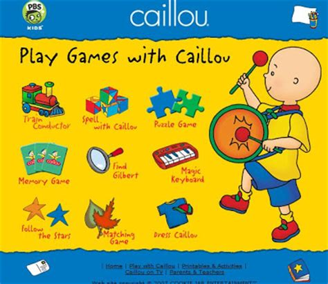 caillou doll house caillou games pbs kids gameonlineflash com