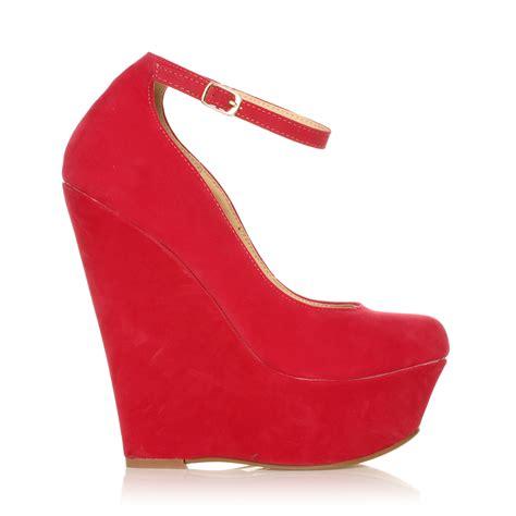Sandal Wedges V Gd101 new ankle platform sandals high heel wedges size 3 8 ebay