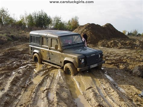 Land Rover 110 Stuck In The Mud