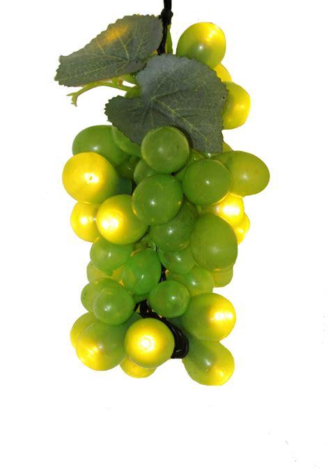 grape lights green grape bunch w led lights