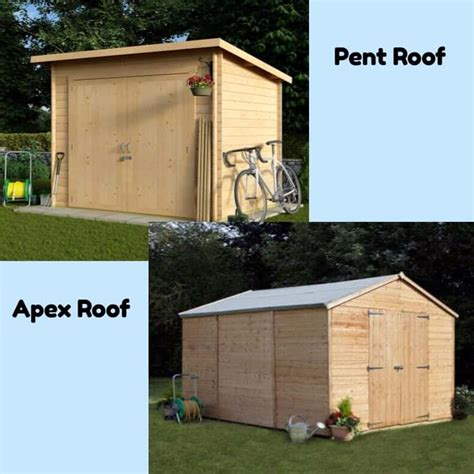 Apex Roof Construction When To Choose A Pent Shed An Apex Shed Shed