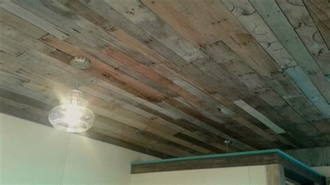 Wood Ceiling L by Pallet Wood Ceiling Thriftyfun