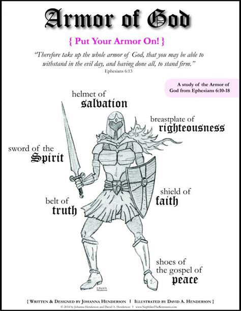 free coloring armor of god images