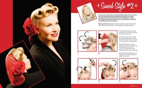 Rennells Vintage Hairstyles Book by Pin Up Hairstyles With Vintage Hairstyles By