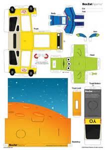 Papercraft Planet - boxzet pizza planet de paper minions story minions