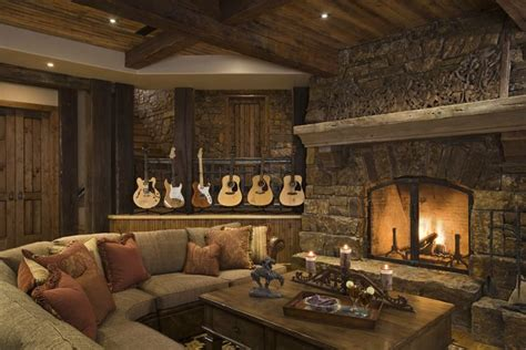 great house designs rustic style living room decor