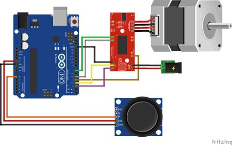 arduino 6 wire stepper motor arduino stepper easy driver joystick 3d print