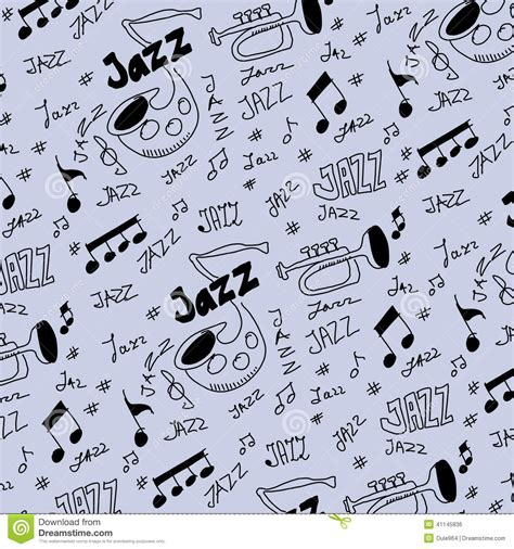 pattern jazz jazz music pattern and texture stock illustration image