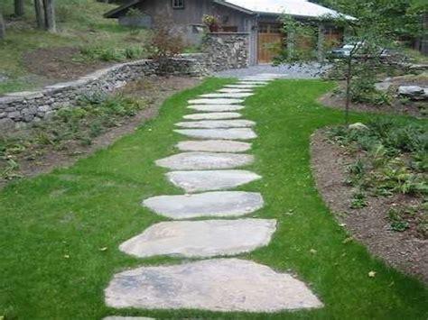 Bluestone walkways, stepping stone path stepping stone
