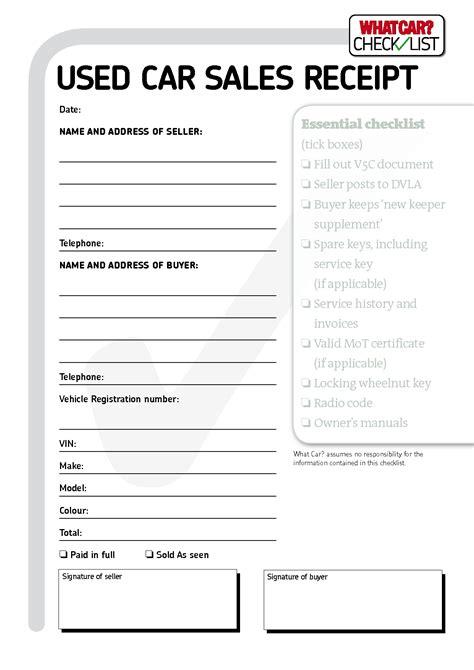 Car Sale Receipt Template Qld by Car Sales Invoice Template Free Invoice Template Ideas
