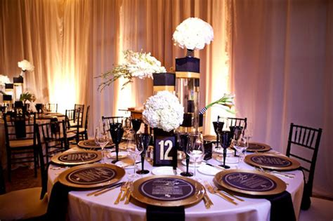 black gold wedding decorations glamorous black white and gold wedding with sequin