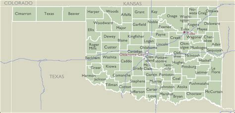 Oklahoma Zip Code Map by County Zip Code Maps Of Oklahoma